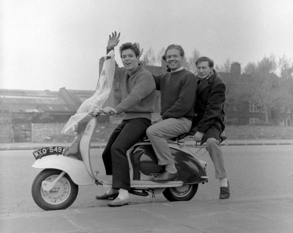 Cliff Richard on a Lambretta