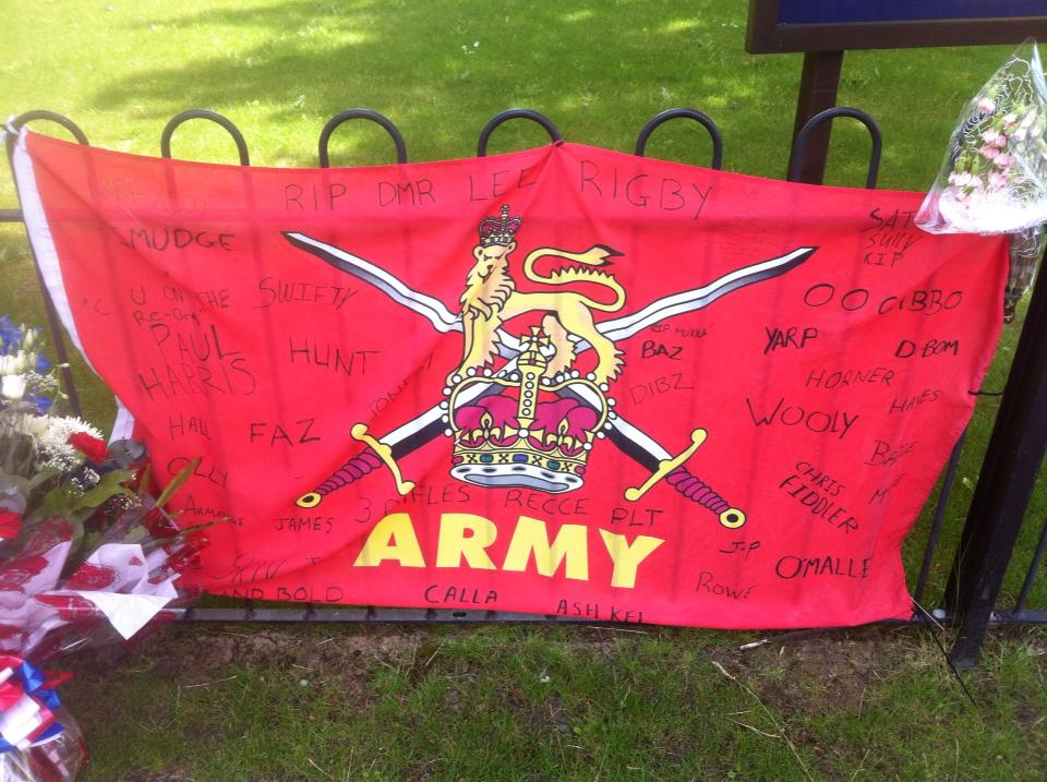 Lee Rigby Army Flag
