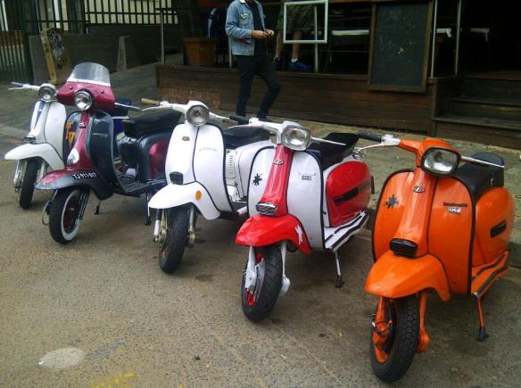 Lambrettas in Johannesburg