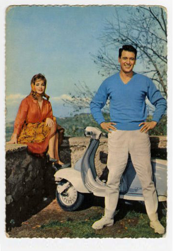 Rock Husdon, Gina Lollobrigida and a Lambretta S2