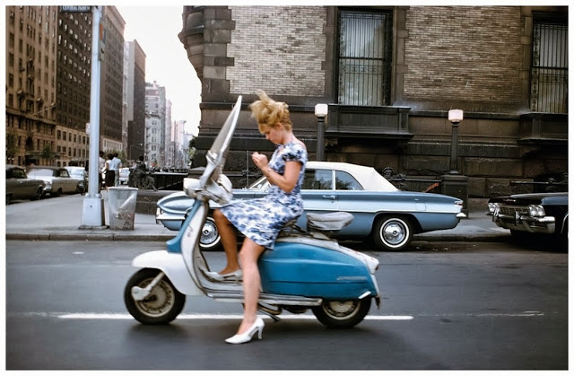 Girl on  a scooter 1965
