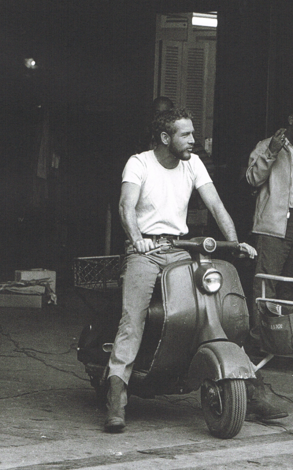Paul Newman on a Lambretta