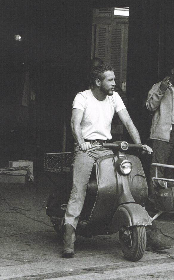 Paul Newman on a Lambretta