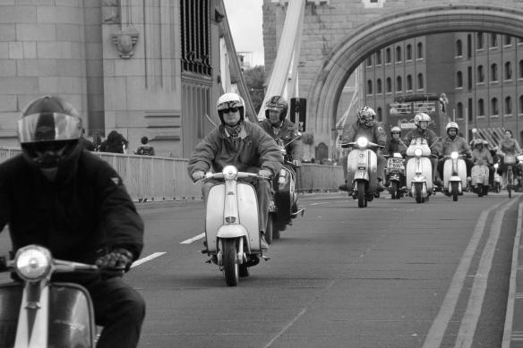 Scoots on Tower Bridge