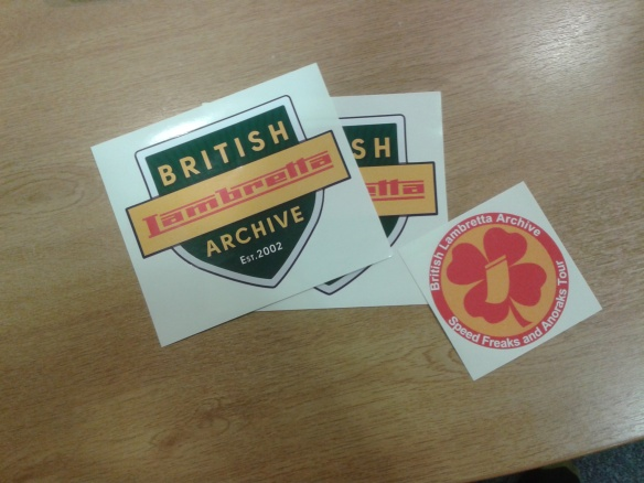 British Lambretta Association stickers