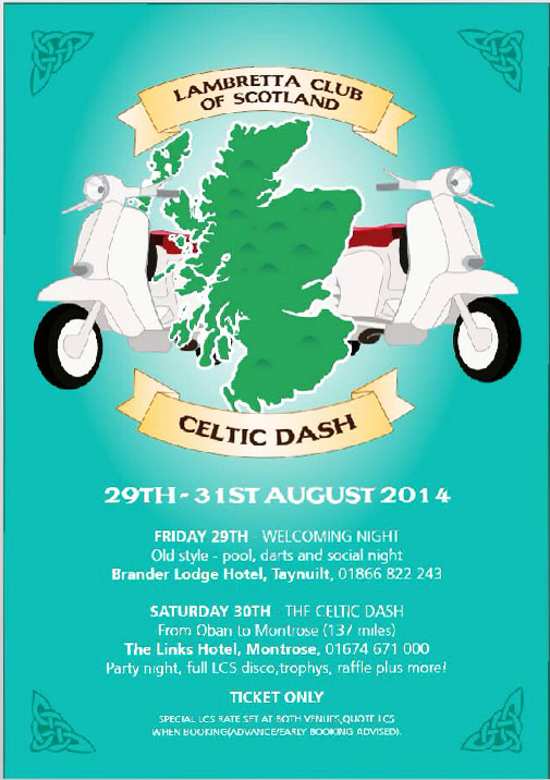 Lambretta Club Scotland Celtic Dash Flyer
