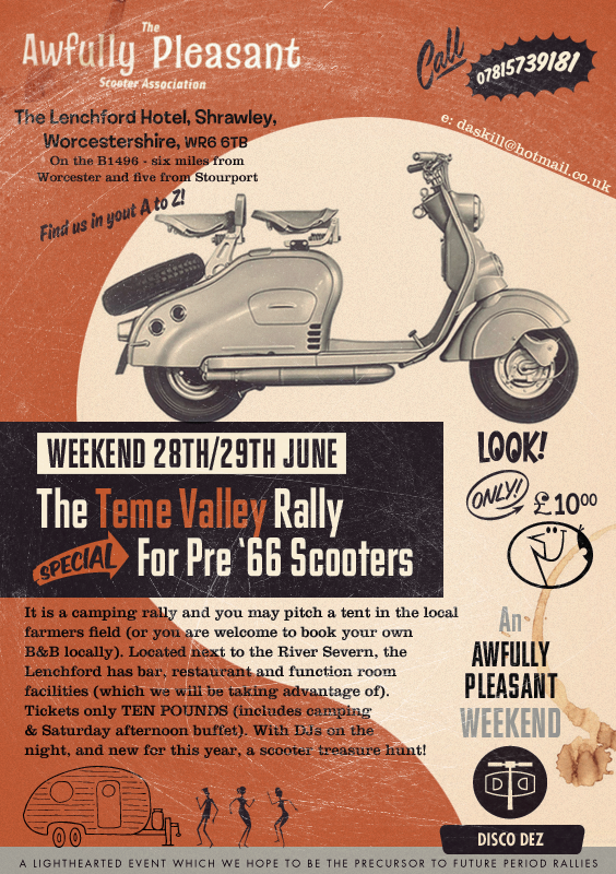 Teme Valley Rally Poster