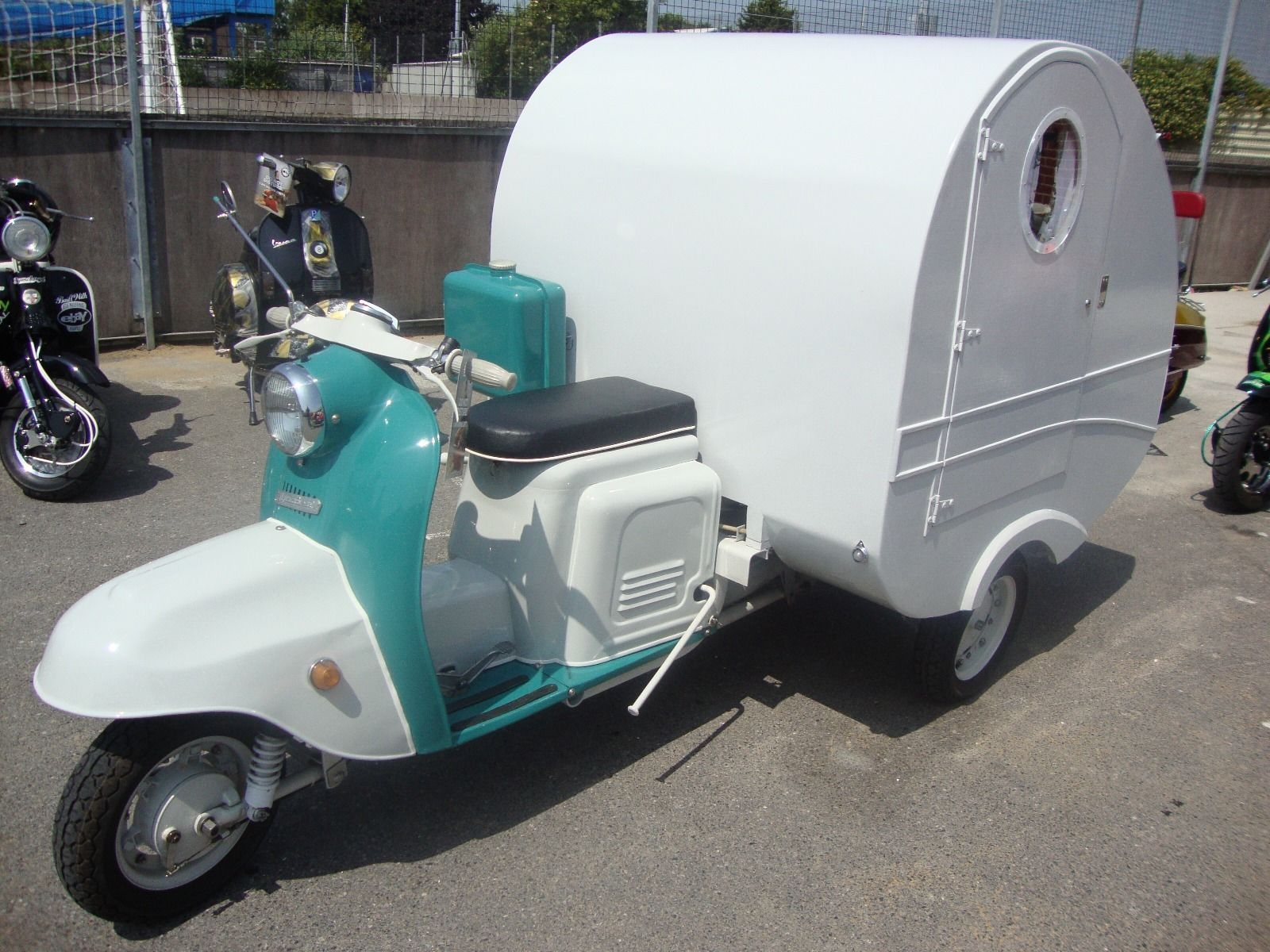 scooter caravan up for sale. Black Bedroom Furniture Sets. Home Design Ideas