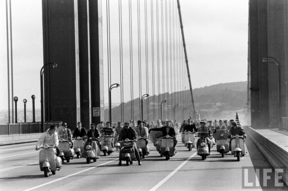 Motor Scooter Squabble in California, ca. 1960s (1)
