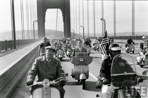 Motor Scooter Squabble in California, ca. 1960s (2)