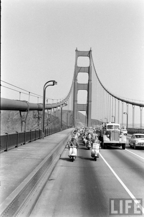 Motor Scooter Squabble in California, ca. 1960s (3)