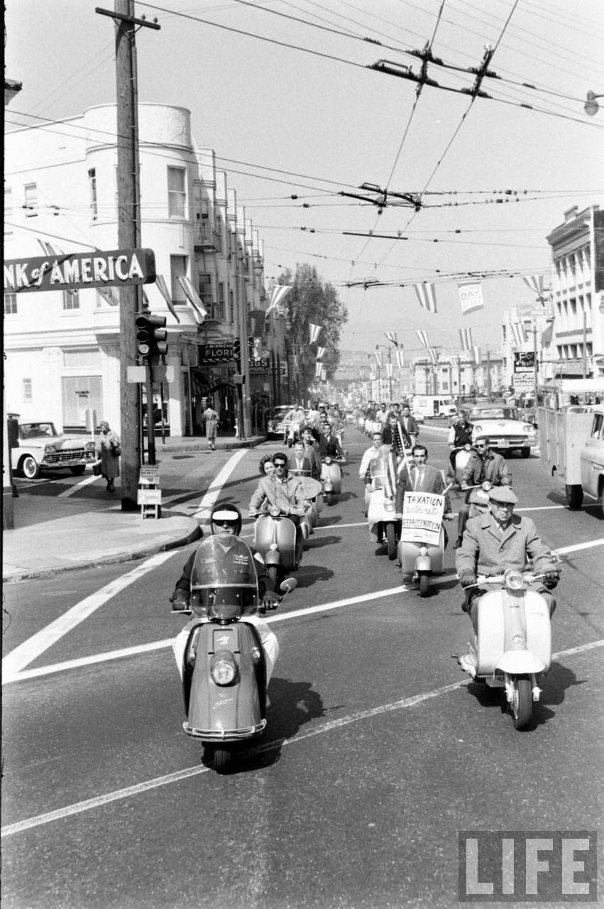 Motor Scooter Squabble in California, ca. 1960s (6)