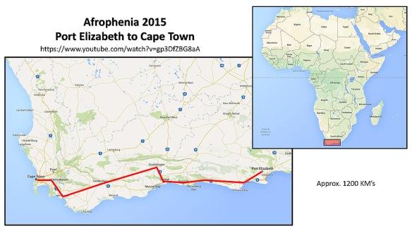 Afrophenia 2015 Route