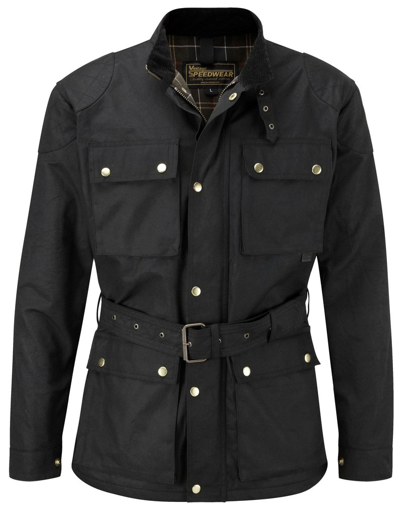 The Speedwear Classic Waxed Cotton Motorcycle Jacket