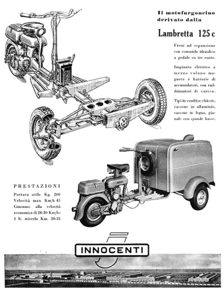Original Innocenti Advertising form the Lambretta FC
